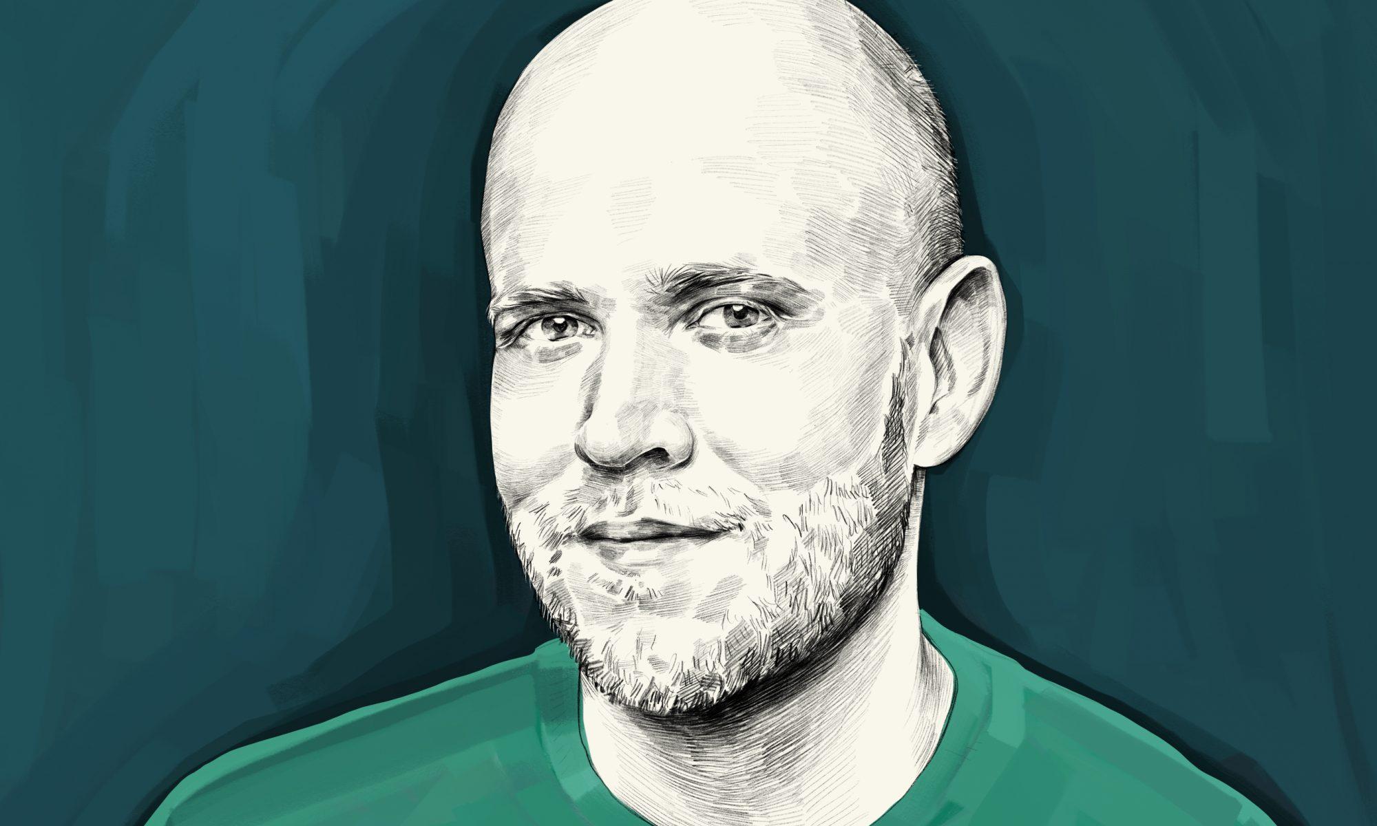 Artist's rendering of Daniel Ek.