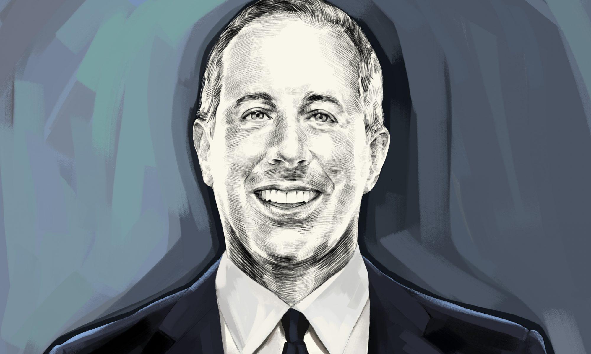 Artist's rendering of Jerry Seinfeld portrait.